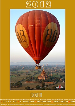 Themenkalender Balloons over Bagan